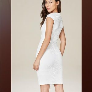 Bebe white Tiffany Jacquard dress xxs